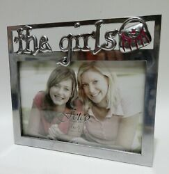 Fetco Home Decor quot;the girlsquot; Metal Pewter 4x6 Picture Photo Frame F435164