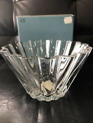 Lenox Crystal Waterscape Collection Scalloped Bowl 4 1/2 Tall X 9 Diameter.