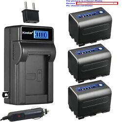 Kastar Battery Lcd Ac Charger For Sony Np-qm71d And Sony Dcr-dvd200 Dcr-dvd201