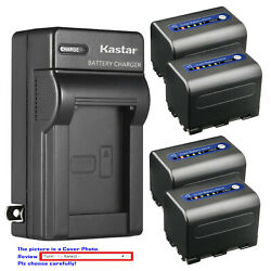 Kastar Battery Ac Wall Charger For Sony Np-qm71d And Sony Dcr-dvd200 Dcr-dvd201
