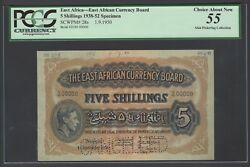 East Africa 5 Shilling 1-9-1950 P28s Specimen About Uncirculated