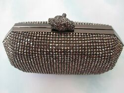 $99 REAL COLLECTIBLES BY ADRIENNE JEWELED PEWTER EVENING BAG W COSMETICS NEW $84.55