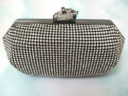 $99 REAL COLLECTIBLES BY ADRIENNE JEWELED PEWTER EVENING BAG W COSMETICS NEW $66.75