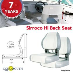 Oceansouth Usa Deluxe Hi Back Boat Seats Gray/white X 2