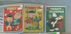 3 Comic Lot Porky Pig 63, 70 Tweety And Sylvester 23 1959