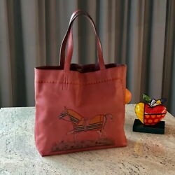 Rare 2011 Hermes SAC DOUBLE SENS 36cm Horse decor mens ladies bag purse tote   $2,800.00
