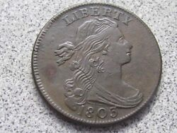 1803 S-261 Small Date Lg Frac Draped Bust Large Cent