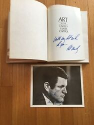 Art In The United States Capital - Signed By Ted Kennedy W/ Signed Print Photo