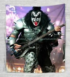 large tapestry wall hangings KISS rock band wall tapestry