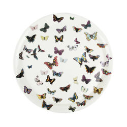 Fornasetti White / Multi Color Butterfly Farfalle Tray New