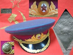 Original Hat Cap Officer Colonel Infantry Troops Zhukovka Soviet Russian Army