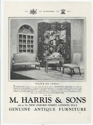 1934 Print Advert M. Harris And Sons Antiques + 3 On The Reverse 11 X 8