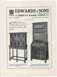 1934 Print Advert Edwards And Sons Antiques + 3 Other Ads On The Reverse 11 X 8