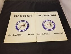 Lot Of 2 1965 U.f.t. Round Table United Fly Tyers Inc Newsletter Typed And Printed