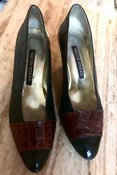 Walter Stieger Crocodile Leather Shoes Pump Hand Made Italy 39 Us 9