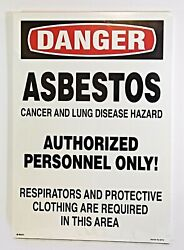 Brady Danger Asbestos Cancer And Lung Disease Signs 14 X 20 25713ls 25 Pack
