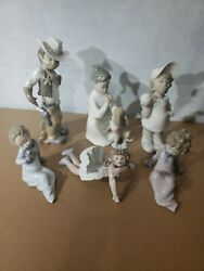 Lot Of 6 Piece All Retired Lladro Collection No Boxes Spain Porcelain