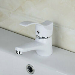 Bathroom Basin Sink Faucet Mixer Single Handle/hole Tap White Deck Mounted