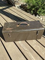 Vintage Easco Tool Box Toolbox Portable Tools Pickup Used Abused Rusty Scratched