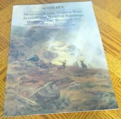 Sotheby's Silver And Jewels, Wemyss Ware,scottish And Sporting Paintings,drawings