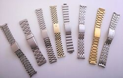 Vintage Collection Bulova Seiko Bell And Ross Accutron Benrus Spiedel Watch Bands