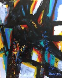 New Large Contemporary Original Modern Abstract Painting Fine Art Dan Byl 4x5ft