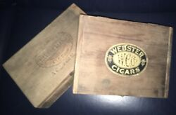3 Wooden Cigar Boxes Rustic Aged Vintage Display Steam Punk Wood Prop Decor Stag
