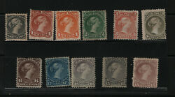 Canada 21 - 30 Includes 23a And 29b Mint Fine Set Unused No Gum