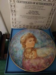 2 Edna Hibel Knowles Collector Mother's Day Plates 1984 And 1990, In Boxes W/coa