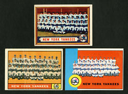 1957 Topps 97 1961 Topps 228 1963 Topps 247 New York Yankees Teams Mickey Mantle