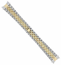 20mm 18k/ss Two Tone Jubilee Watch Band For Rolex 36mm New Model Hidden Clasp