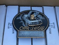 Lot Of 9 Retro Style Blank Car Show Trophy Placard Prize Award--engraverand039s Item