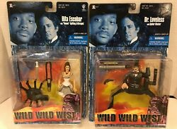2 Wild Wild West Movie Action Figures Rita Escobar And Dr. Loveless New On Card