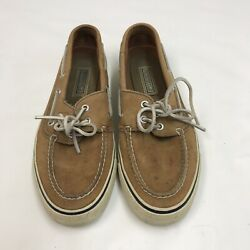 Sperry Top Sider Men's Size 9 12 M Tan Leather Boat Shoes C13-07