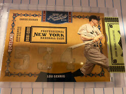 2008 Playoff Prime Cuts Lou Gehrig Timeline Authentic Game Worn 3x Jersey 2/5