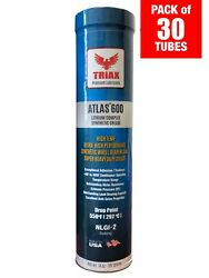 Triax Atlas 600 Synthetic High Temp Wheel Bearing Ep Grease Pack Of 30 Tubes