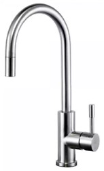 Swedia Klaas Kitchen Sink Mixer With Pull-out Hose, Brushed Stainless Steel