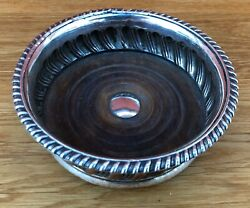 Early 19th Century Old Sheffield Plate Wine Coaster With Fluted Decoration