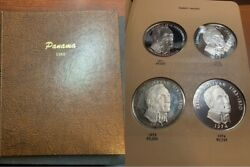 Panama Dansco Album 1966- Complete With All Proof Coins Type