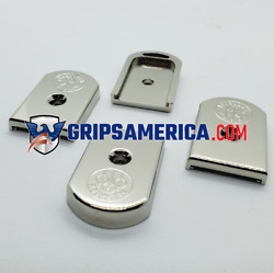 2 X Custom For Beretta 92FS Compact Pistol Magazine Metal Base Pad Nickel plated $39.60