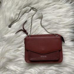 Kenneth Cole Reaction Red Sling Crossbody Purse Chain Strap $29.99