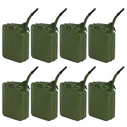 8pc 5 Gallon Gas Fuel Steel Jerry Can Emergency Backup For Motor Racing Farm