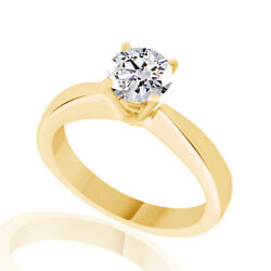 2.77ct Simulated Round Cut 14k Yellow Gold Solitaire Basket Ring