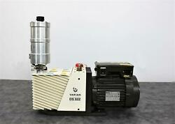 Varian Ds 602 Dual Stage Vacuum Pump 949-9335 W/ Oil Exhaust Filter 949-9392