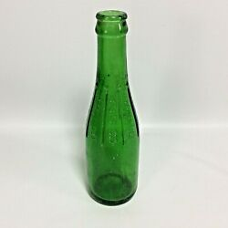 Canada Dry Ginger Ale Embossed Name Diamond Pattern Scarce 7oz Green Bottle