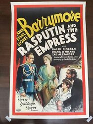 Rasputin And The Empress - John, Lionel And Ethel Barrymore 1932 One Sheet ...