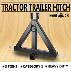 Vevor 44lbs 3 Point 2 Receiver Trailer Tow Hitch Category 1 Attachment Tractor
