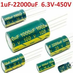 High Frequency Low Esr Radial Electrolytic Capacitor Various Value/voltages 105c