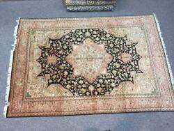 Hand-knotted Area Rug 8x10 Oriental Handmade With Wool Andsilk Carpet Vintage Free