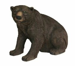 Bear Grizzly Sitting Forest Prop Life Size Decor Resin Statue